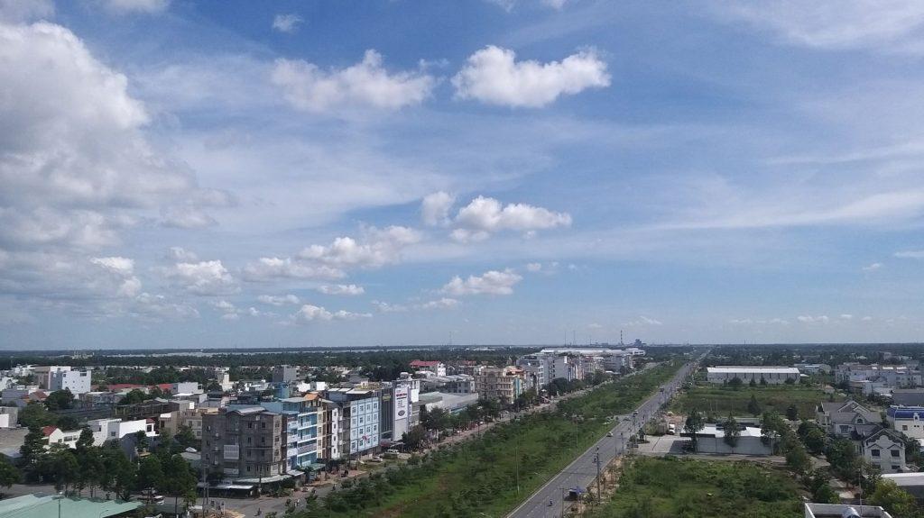 Địa bàn quận Cái Răng hiện có 6 dự án bất động sản đủ điều kiện bán nhà ở hình thành trong tương lai được thông báo trên Cổng thông tin Sở Xây dựng thành phố. Trong ảnh: Một góc đô thị quận Cái Răng nhìn từ trên cao.